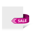 sale ribbon vector image