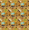 treasure chest seamless pattern vector image vector image