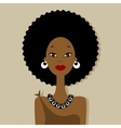 African woman portrait for your design vector image vector image
