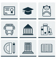 set of 9 education icons includes education vector image
