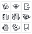 Audio book icon collection vector image