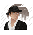 Man Wearing Hat vector image vector image