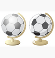soccer world vector image vector image