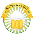 a glass of fine beer for st patricks day vector image