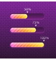 Progress bar glossy and trendy style vector image
