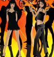 Dance party gals vector image