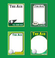 Golf Cards vector image