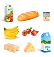 Supermarket Food Isolated Products Set vector image