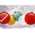 Christmas baubles snow and text vector image vector image