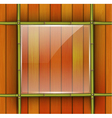 Bamboo frame with glass banner vector image