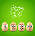 humor easter card with funny eggs vector image