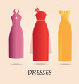 dresses isolated on background vector image