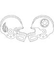 sports helmets vector image
