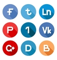 social network buttons vector image vector image