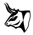 Bull design vector image