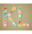 Floral alphabet vector image vector image