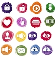 Colorful watercolor business icons set vector image