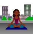 Girl in yoga lotus position vector image