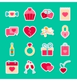 Happy Valentines Day Stickers vector image