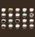 isometric infographic with coffee types vector image