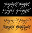 Lord of the rings mantra vector image