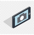 mobile camera isometric icon vector image