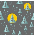 Seamless pattern with space ship vector image