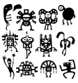 shamans and spirits design elements vector image