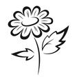 Symbolical Flower Black Pictogram vector image