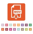 The MOV icon Video file format symbol Flat vector image