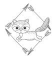 animal drawing style boho icon vector image