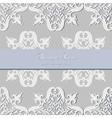 Vintage Baroque Luxury lace card vector image