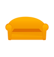 A sofa is palced vector image vector image