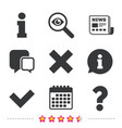 information icons question faq symbol vector image
