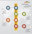 4 steps timeline template for presentation vector image