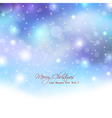 Christmas background with boket lights vector image