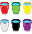 set of soapy water buckets vector image