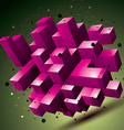 3D mesh contemporary style abstract colorful vector image