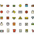 Different line style color icons vector image