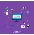 Design Icon Concept Flat Style vector image