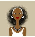 Black woman face for your design vector image