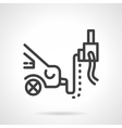 Car emission inspection simple line icon vector image
