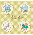 cartoon baby boy items collection vector image