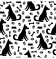 dog pattern vector image