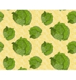 Seamless background with cabbage vector image vector image
