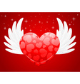 a sweet heart with wings vector image
