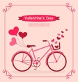 Bicycle with balloons and hearts Romantic Birthday vector image