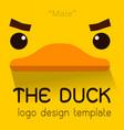 male duck flat logo vector image