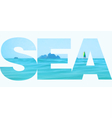 the sea vector image
