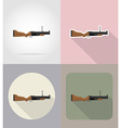 weapon flat icons 10 vector image